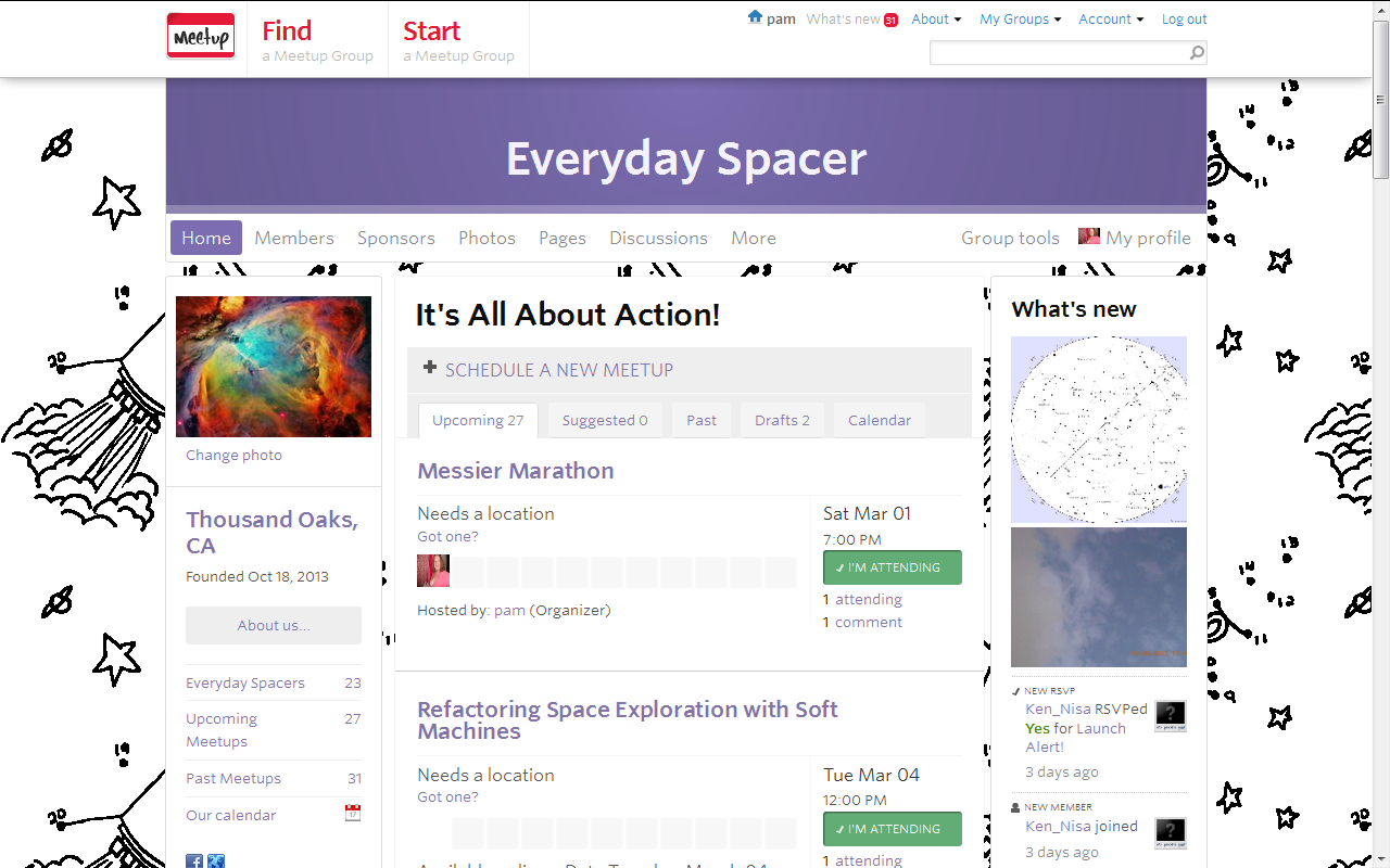 Join an Everyday Spacer Meetup Near You!