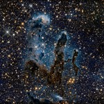 """The near-infrared light can penetrate much of the gas and dust, revealing stars behind the nebula as well as hidden away inside the pillars,"" says NASA."